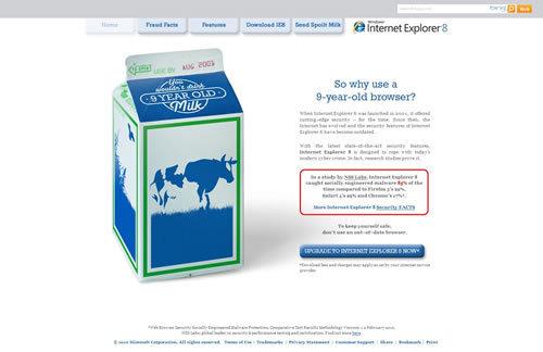 動物病院、美容室のHP制作はお任せください!@WEB制作CUBES-IE6は9年前の腐った牛乳を飲むようなものだ