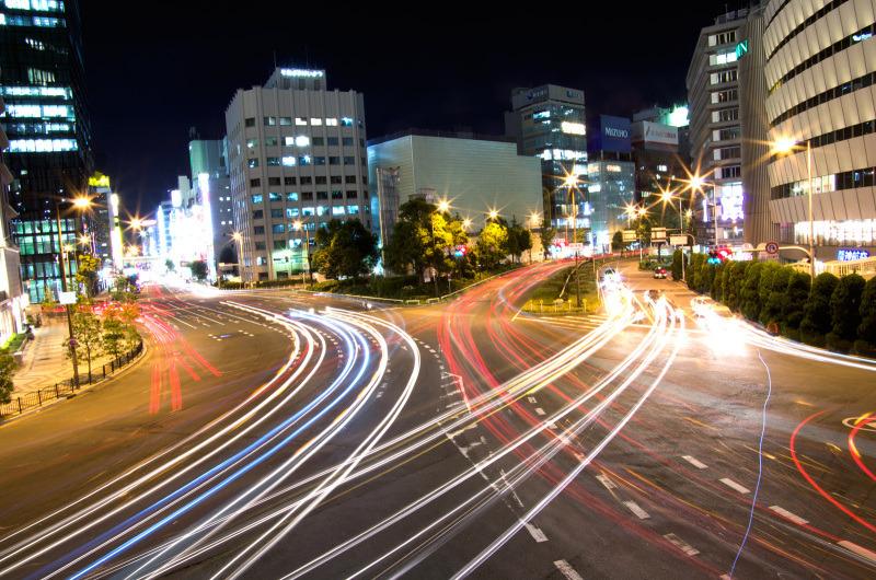 梅田歩道橋から