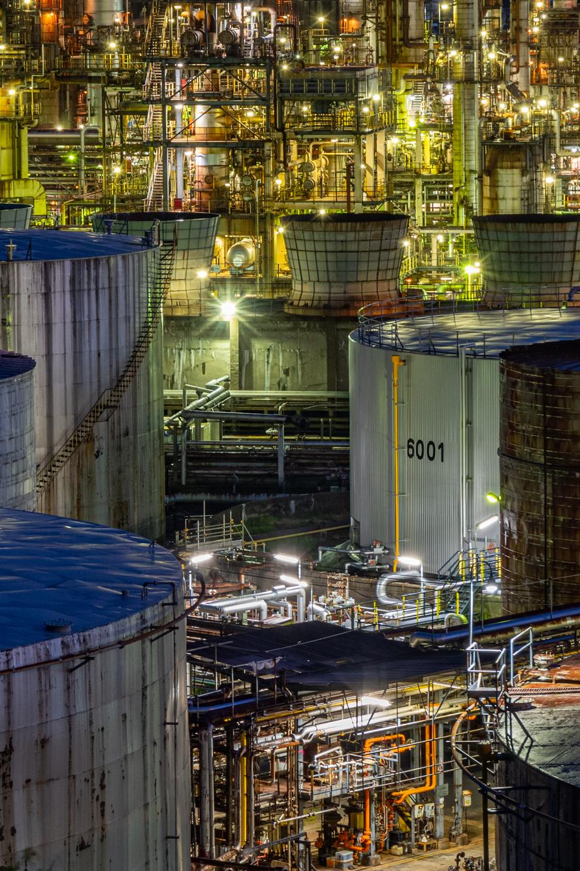 JXTGエネルギー和歌山製油所 工場夜景画像